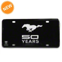 50 Years of Ford Mustang - License Plate (79-15 All) - AM Accessories ACC-PLATE-50-BK