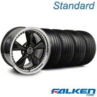 Bullitt Motorsport Black Wheel & Falken Tire Kit - 18x9 (99-04 All) - American Muscle Wheels KIT||79561||mb1||10082