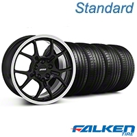GT4 Black Wheel & Falken Tire Kit - 18x9 (99-04 All) - American Muscle Wheels KIT||79561||mb1||28132