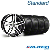 2010 GT500 Black Machined Wheel & Falken Tire Kit - 18x9 (99-04 All) - American Muscle Wheels KIT||mb1||79561||28221