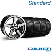 Saleen Black Chrome Wheel & Falken Tire Kit - 18x9 (99-04 All) - American Muscle Wheels KIT||79561||mb1||10105