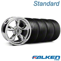Bullitt Motorsport Chrome Wheel & Falken Tire Kit - 18x9 (99-04 All) - American Muscle Wheels KIT||79561||mb1||10113