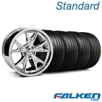 Daytona Chrome Wheel & Falken Tire Kit - 18x9 (99-04 All) - American Muscle Wheels KIT||mb1||79561||27215