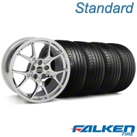 GT4 Chrome Wheel & Falken Tire Kit - 18x9 (99-04 All) - American Muscle Wheels KIT||mb1||79561||28133