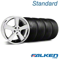 Nova Chrome Wheel & Falken Tire Kit - 18x9 (99-04 All) - American Muscle Wheels KIT||mb1||27210||79561