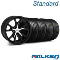Daytona Matte Black Wheel & Falken Tire Kit - 18x9 (99-04 All) - American Muscle Wheels KIT||79561||mb1||27216