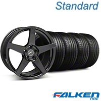 Forgestar CF5 Monoblock Piano Black Wheel & Falken Tire Kit - 18x9 (99-04 All) - Forgestar KIT||mb1||79561||29832