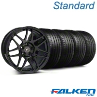 Forgestar F14 Monoblock Piano Black Forgestar F14 Monoblock Wheel & Falken Tire Kit - 18x9 (99-04 All) - American Muscle Wheels KIT||79561||29834||mb1