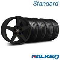 Forgestar CF5 Monoblock Textured Black Wheel & Falken Tire Kit - 18x9 (99-04 All) - Forgestar KIT||mb1||79561||29836