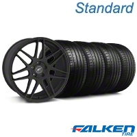 Forgestar F14 Monoblock Textured Black Wheel & Falken Tire Kit - 18x9 (99-04 All) - American Muscle Wheels KIT||mb1||29838||79561