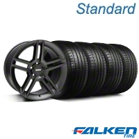 2010 GT500 Black Wheel & Falken Tire Kit - 18x9 (99-04 All) - American Muscle Wheels KIT||28219||79561||mb1