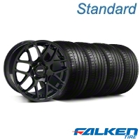 AMR Black Wheel & Falken Tire Kit - 18x9 (99-04 All) - American Muscle Wheels KIT||79561||33782||mb1