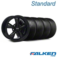 Bullitt All Black Wheel & Falken Tire Kit - 18x9 (99-04 All) - American Muscle Wheels KIT||79561||28481||mb1