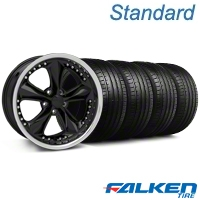 Foose Nitrous Black Wheel & Falken Tire Kit - 18x9 (99-04 All) - Foose KIT||mb1||79561||32817