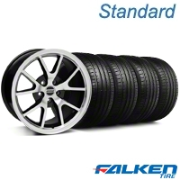 FR500 Black Machined Wheel & Falken Tire Kit - 18x9 (99-04 All) - American Muscle Wheels KIT||mb1||79561||28382