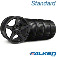 S Black Wheel & Falken Tire Kit - 18x9 (99-04 All) - American Muscle Wheels KIT||28252||mb1||79561