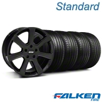 S197 Saleen Black Wheel & Falken Tire Kit - 18x9 (99-04 All) - American Muscle Wheels KIT||79561||mb1||28357