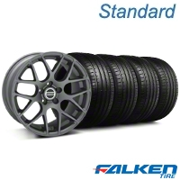 AMR Charcoal Wheel & Falken Tire Kit - 18x9 (99-04 All) - American Muscle Wheels KIT||mb1||79561||28330