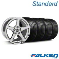 S Chrome Wheel & Falken Tire Kit - 18x9 (99-04 All) - American Muscle Wheels KIT||28251||79561||mb1
