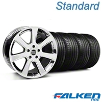 S197 Saleen Chrome Wheel & Falken Tire Kit - 18x9 (99-04 All) - American Muscle Wheels KIT||28355||79561||mb1