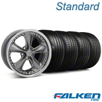 Foose Nitrous Grey Wheel & Falken Tire Kit - 18x9 (99-04 All) - American Muscle Wheels KIT||mb1||32816||79561