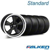 Bullitt Deep Dish Matte Black Wheel & Falken Tire Kit - 18x9 (99-04 All) - American Muscle Wheels KIT||79561||mb1||28303