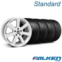 S197 Saleen Silver Wheel & Falken Tire Kit - 18x9 (99-04 All) - American Muscle Wheels KIT||mb1||79561||28356