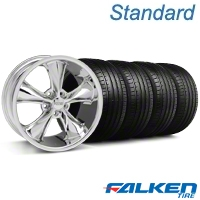 Foose Legend Chrome Wheel & Falken Tire Kit - 18x8.5 (05-10 GT, V6) - American Muscle Wheels KIT||32824||79569||mb1