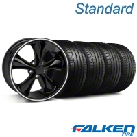 Foose Legend Black Wheel & Falken Tire Kit - 18x8.5 (05-10 GT, V6) - American Muscle Wheels KIT||32826||79569||mb1
