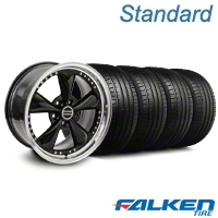 Bullitt Motorsport Black Wheel & Falken Tire Kit - 18x9 (05-14 GT, V6) - American Muscle Wheels KIT||mb1||79569||10107