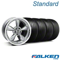 Bullitt Motorsport Anthracite Wheel & Falken Tire Kit - 18x9 (05-14 GT,V6) - American Muscle Wheels KIT||mb1||10118||79569