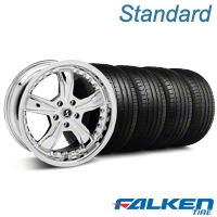 Shelby Razor Chrome Wheel & Falken Tire Kit - 18x9 (05-14 GT, v6) - American Muscle Wheels KIT||27226||mb1||79569