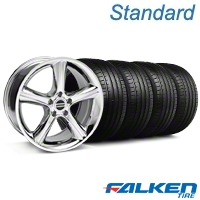 2010 GT Premium Style Chrome Wheel & Falken Tire Kit - 18x9 (05-14 All) - American Muscle Wheels KIT||mb1||79569||28211