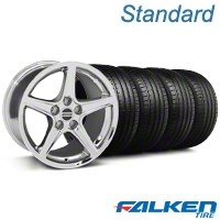 Saleen Chrome Wheel & Falken Tire Kit - 18x9 (05-14 GT, V6) - American Muscle Wheels KIT||28251||mb1||79569