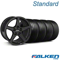 Saleen Black Wheel & Falken Tire Kit - 18x9 (05-14 GT, V6) - American Muscle Wheels KIT||mb1||28252||79569