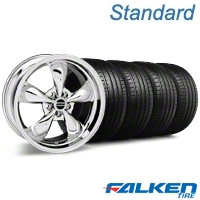 Bullitt Chrome Wheel & Falken Tire Kit - 18x9 (05-14 GT, V6) - American Muscle Wheels KIT||28265||mb1||79569