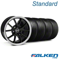 FR500 Black Wheel & Falken Tire Kit - 18x9 (05-14 All) - American Muscle Wheels KIT||28272||79569