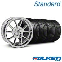 FR500 Style Chrome Wheel & Falken Tire Kit - 18x9 (05-14 All) - American Muscle Wheels KIT||28273||79569