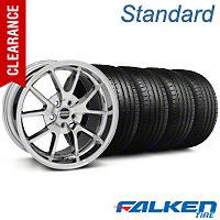 FR500 Chrome Wheel & Falken Tire Kit - 18x9 (05-14 All) - American Muscle Wheels KIT||28273||79569