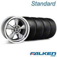 Deep Dish Bullitt Anthracite Wheel & Falken Tire Kit - 18x9 (05-14 GT, V6) - American Muscle Wheels mb1