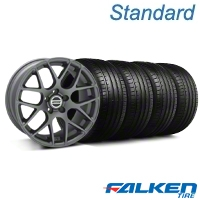 AMR Charcoal Wheel & Falken Tire Kit - 18x9 (05-14 All) - American Muscle Wheels KIT||28330||79569