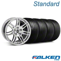 10th Anniversary Cobra Style Chrome Wheel & Falken Tire Kit - 18x9 (05-14 All) - American Muscle Wheels KIT||28346||79569