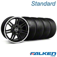 10th Anniversary Cobra Black Wheel & Falken Tire Kit - 18x9 (05-14 All) - American Muscle Wheels KIT||28348||79569