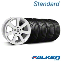 S197 Saleen Style Silver Wheel & Falken Tire Kit - 18x9 (05-14 All) - American Muscle Wheels KIT||28356||79569