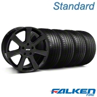 S197 Saleen Black Wheel & Falken Tire Kit - 18x9 (05-14 All) - American Muscle Wheels 28357||79569||KIT