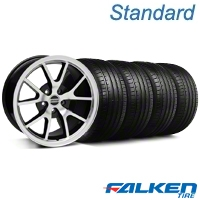 FR500 Style Black Machined Wheel & Falken Tire Kit - 18x9 (05-14 All) - American Muscle Wheels KIT||28382||79569