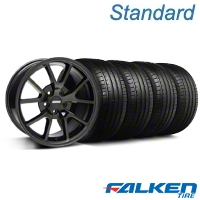 FR500 Gloss Black Wheel & Falken Tire Kit - 18x9 (05-14 All) - American Muscle Wheels KIT||28474||79569