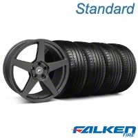 Forgestar CF5 Monoblock Matte Black Wheel & Falken Tire Kit - 18x9 (05-14 All) - American Muscle Wheels KIT||29602||79569