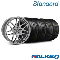 Forgestar F14 Monoblock Gunmetal Wheel & Falken Tire Kit - 18x9 (05-14 All) - American Muscle Wheels KIT||29614||79569