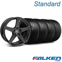 Forgestar CF5 Monoblock Gloss Black Wheel & Falken Tire Kit - 18x9 (05-14 All) - American Muscle Wheels KIT||29618||79569